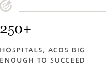 250+ Hospitals, ACOs big enough to succeed