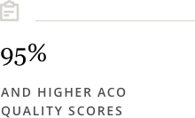 95%25 and higher ACO quality scores