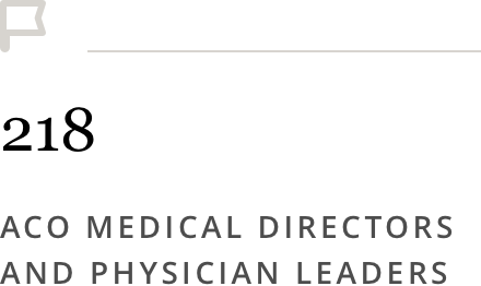218 ACO Medical Directors and Physician Leaders