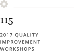 115 2017 Quality Improvement Workshops